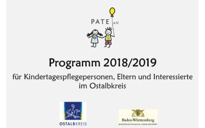 Neues Programm 2018/2019 für Kindertagespflegepersonen und Interessierte