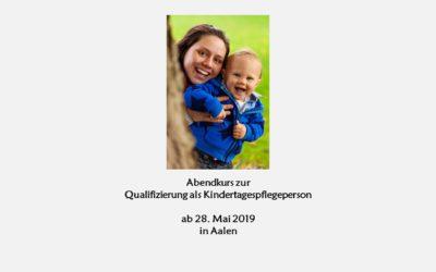 Abendkurs zur Qualifizierung als Kindertagespflegeperson
