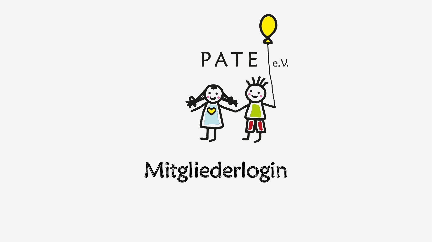 Mitgliederlogin für Mitglieder von PATE e.V.