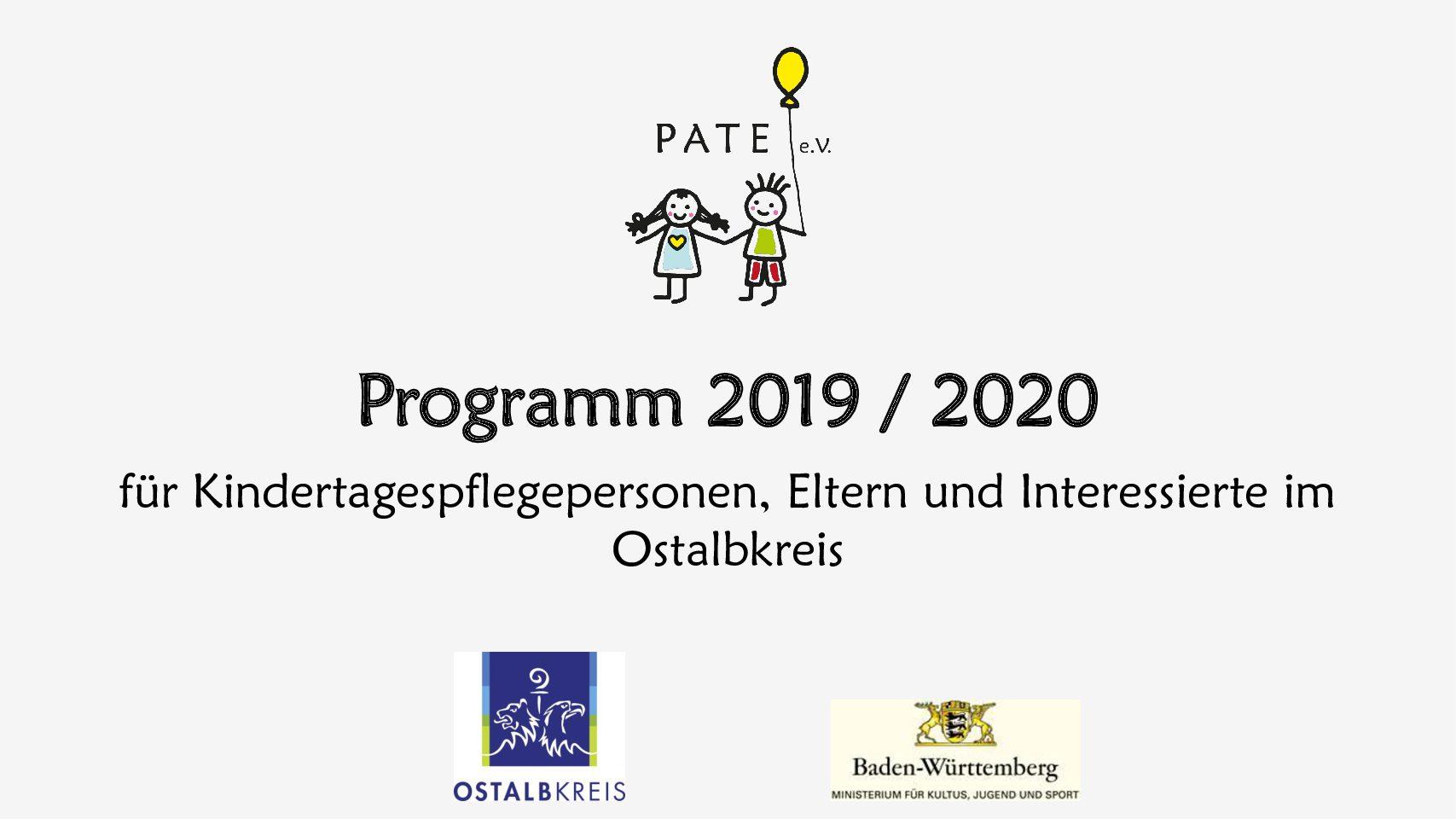 Neues Programm 2019 / 2020 PATE e.V.