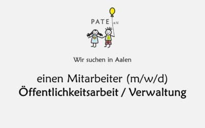 Mitarbeiter (m/w/d) Öffentlichkeitsarbeit / Verwaltung