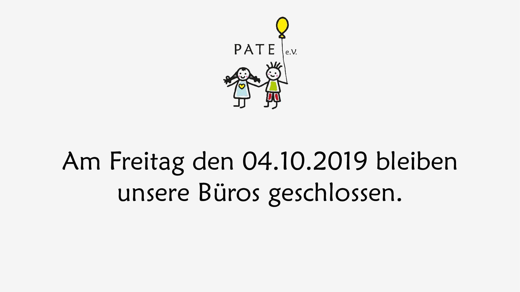 Am Freitag den 04.10.2019 bleiben unsere Büros geschlossen