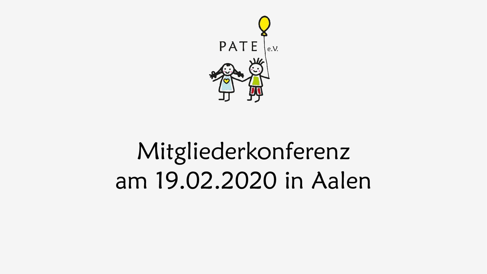 Einladung zur Mitgliederkonferenz