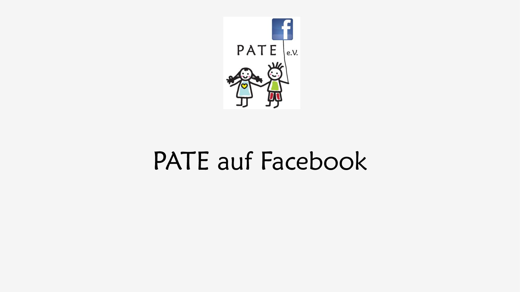 PATE ist jetzt auf Facebook