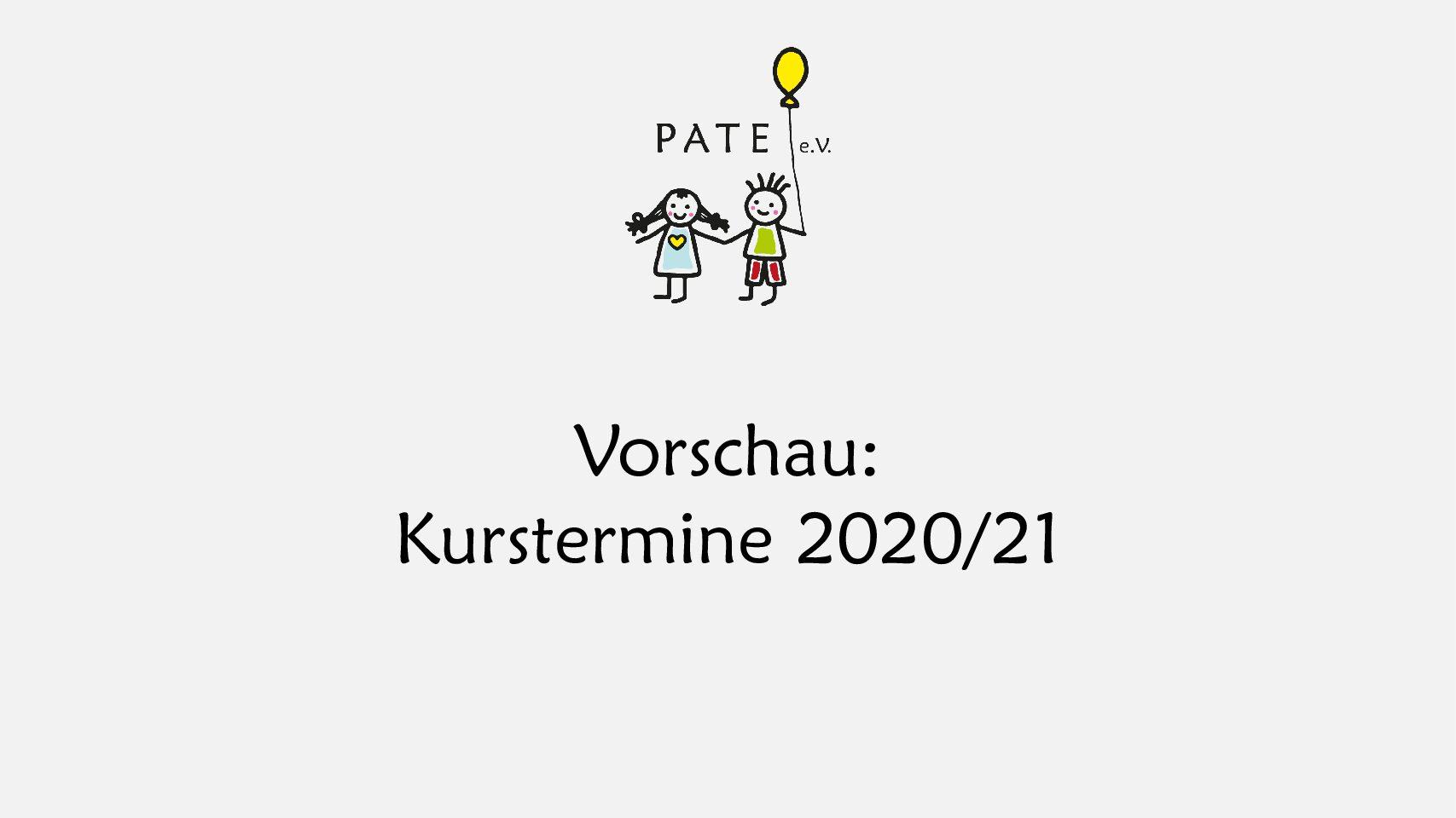 Vorschau: Kurstermine Schulungsjahr 2020/21
