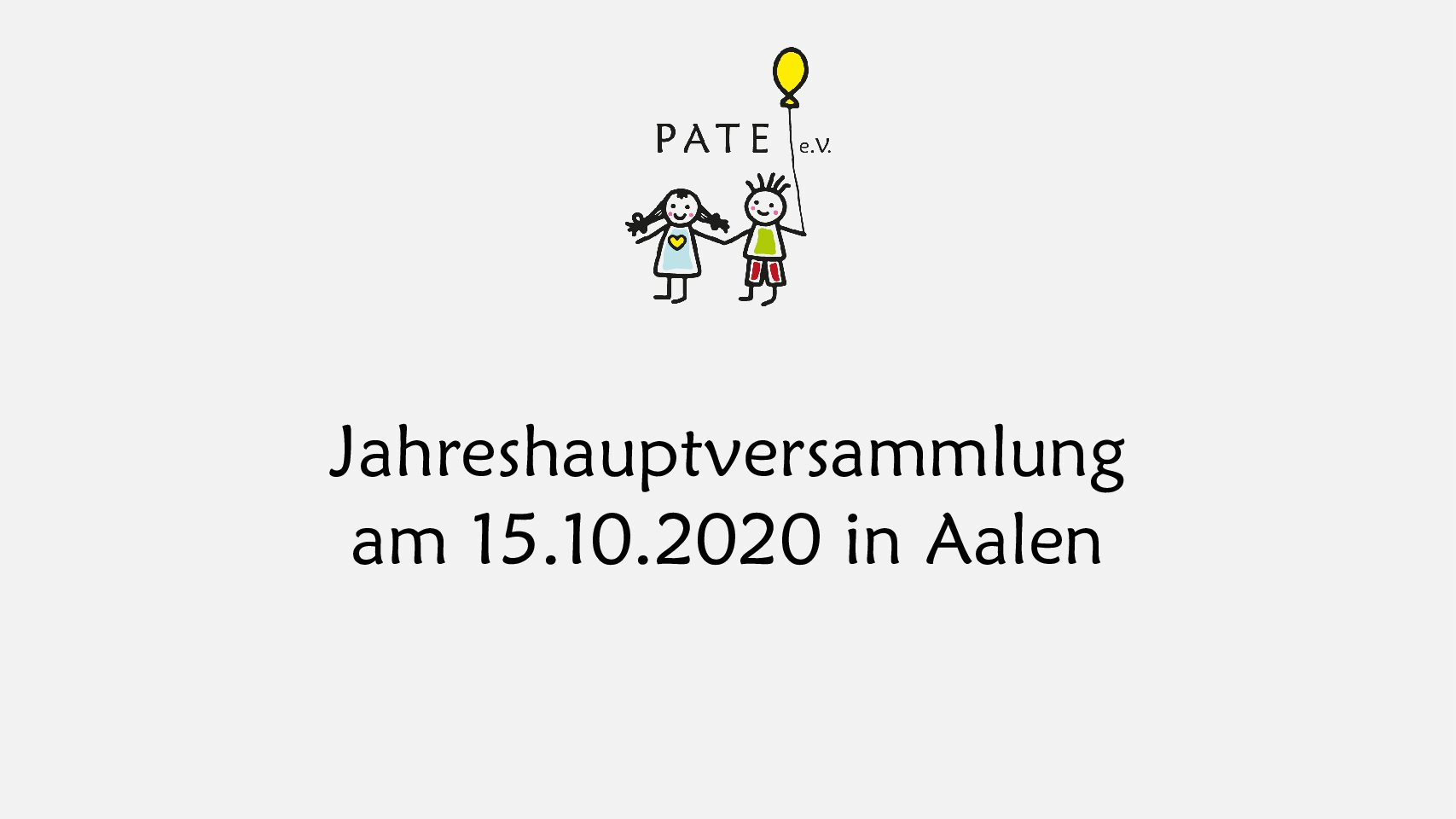 Jahreshauptversammlung am 15.10.2020
