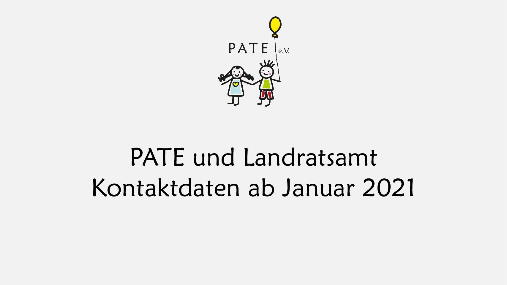 PATE und Landratsamt Kontaktdaten ab Januar 2021