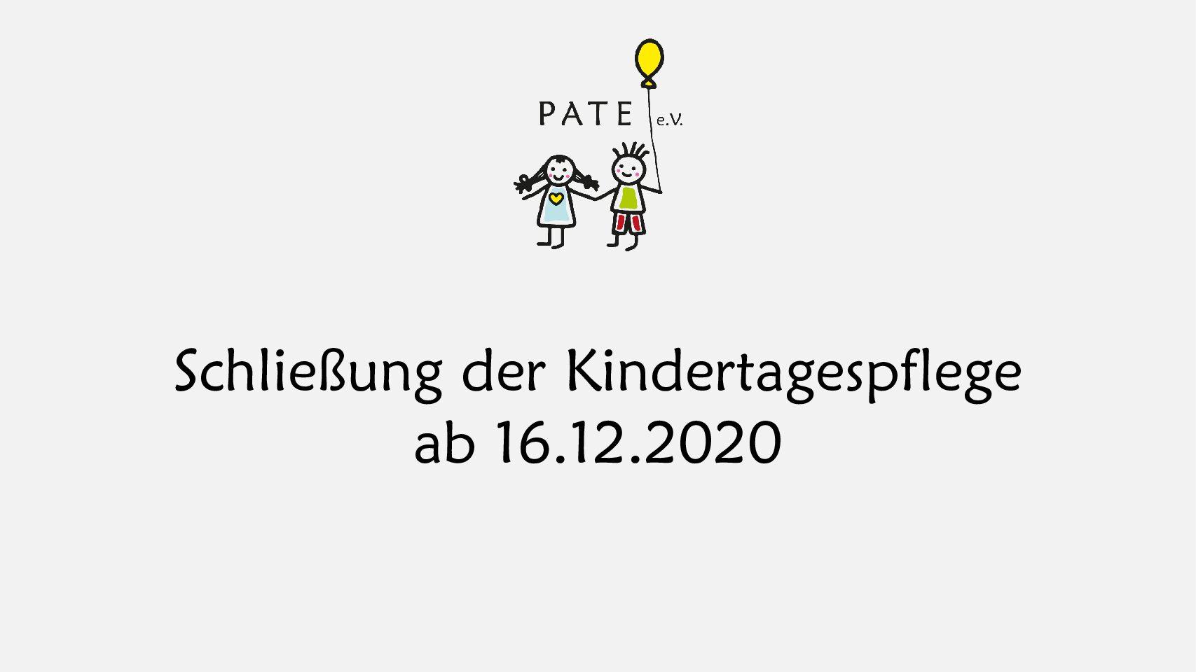 Schließung der Kindertagespflege ab 16.12.2020